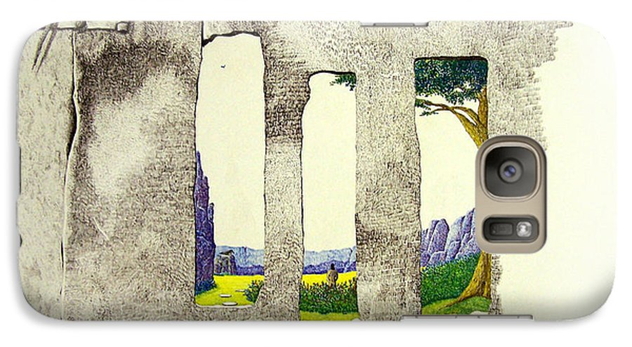 Imaginary Landscape. Galaxy S7 Case featuring the painting The Garden by A Robert Malcom