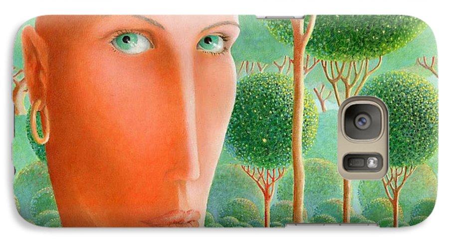 Giuseppe Mariotti Galaxy S7 Case featuring the painting The Garden by Giuseppe Mariotti