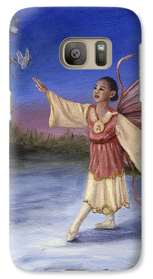 Christmas Galaxy S7 Case featuring the painting The Gift by Anne Kushnick