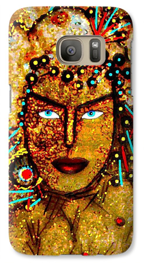 Goddess Galaxy S7 Case featuring the painting The Golden Goddess by Natalie Holland