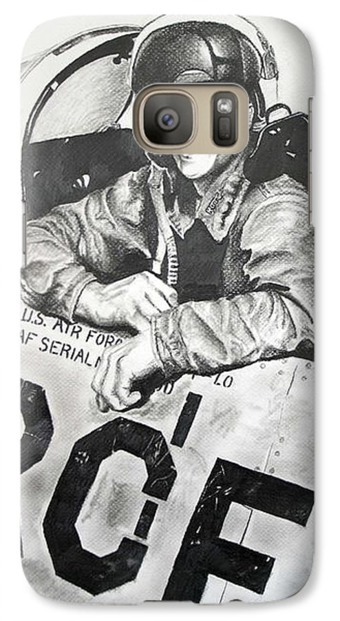 Military Galaxy S7 Case featuring the drawing The Good Old Days by Darcie Duranceau