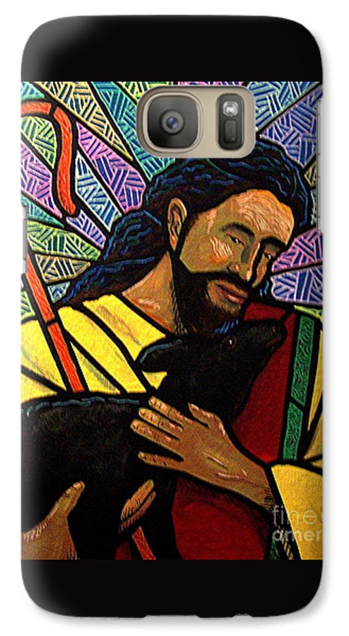 Jesus Galaxy S7 Case featuring the painting The Good Shepherd - Practice Painting One by Jim Harris