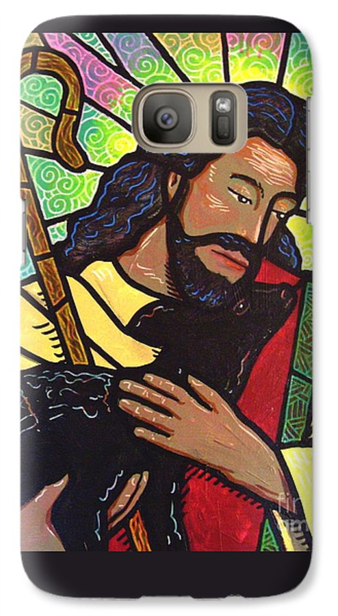Jesus Galaxy S7 Case featuring the painting The Good Shepherd - Practice Painting Two by Jim Harris