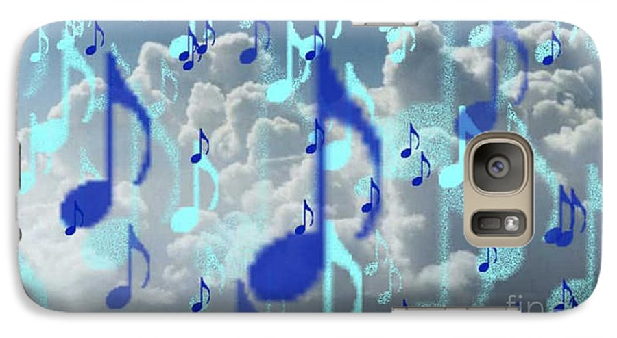 Galaxy S7 Case featuring the digital art The Greater Clouds Of Witnesses We Love The Blues Too by Brenda L Spencer