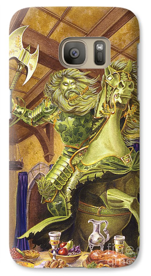Fine Art Galaxy S7 Case featuring the painting The Green Knight by Melissa A Benson