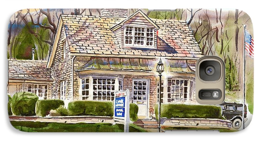 The Greystone Inn In Brigadoon Galaxy S7 Case featuring the painting The Greystone Inn In Brigadoon by Kip DeVore