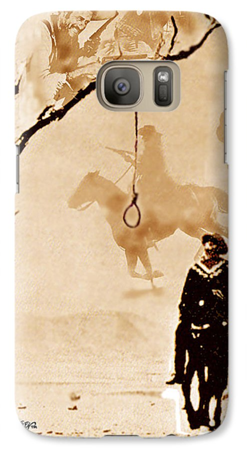 Clint Eastwood Galaxy S7 Case featuring the digital art The Hangman's Tree by Seth Weaver