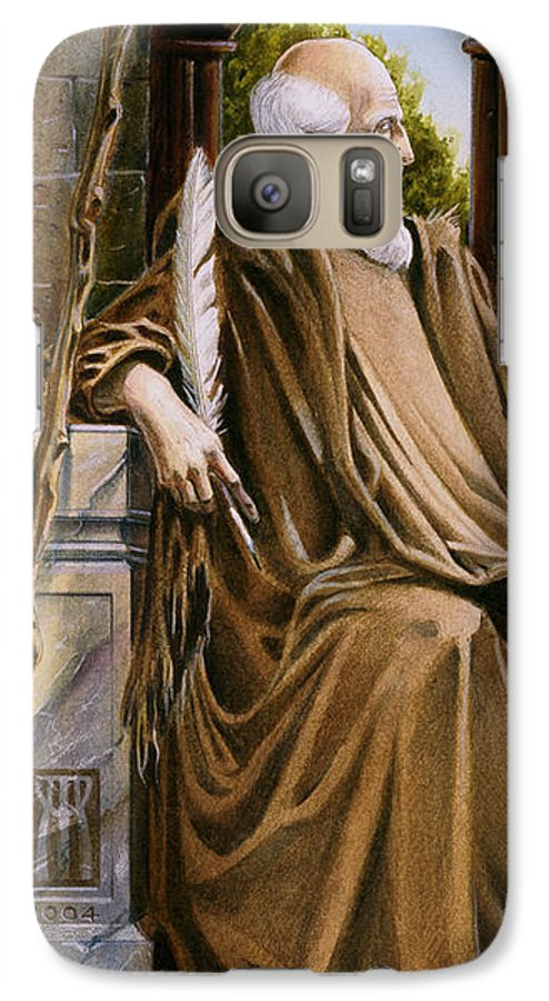 Wise Man Galaxy S7 Case featuring the painting The Hermit Nascien by Melissa A Benson
