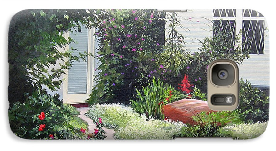Garden Path Galaxy S7 Case featuring the painting The Hidden Garden by Hunter Jay