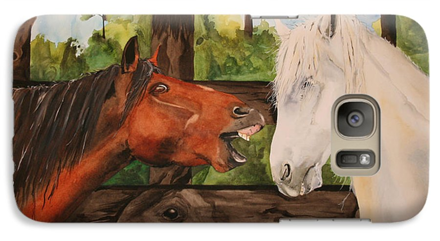 Horse Galaxy S7 Case featuring the painting The Horse Whisperers by Jean Blackmer