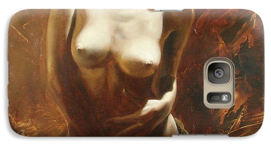 Oil Galaxy S7 Case featuring the painting The Incinerating Passion by Sergey Ignatenko