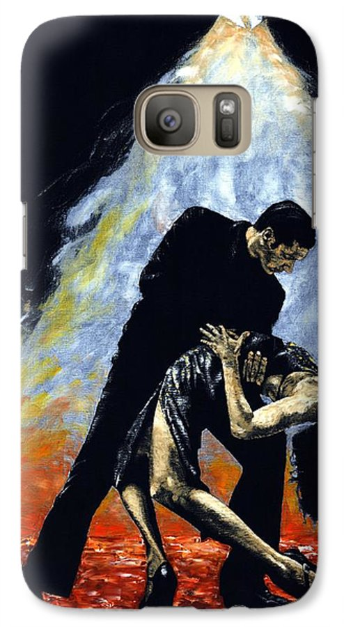 Tango Galaxy S7 Case featuring the painting The Intoxication Of Tango by Richard Young