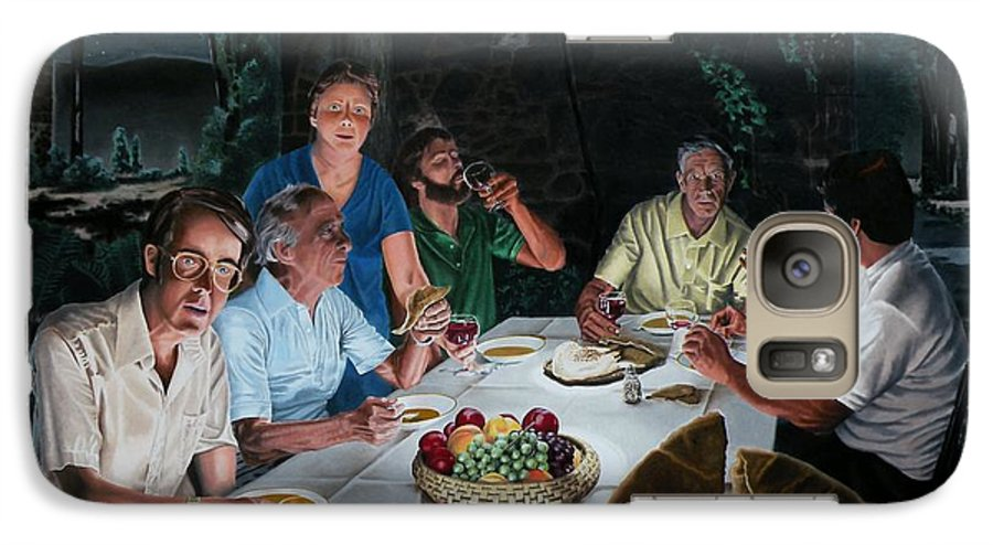 Last Supper Galaxy S7 Case featuring the painting The Last Supper by Dave Martsolf