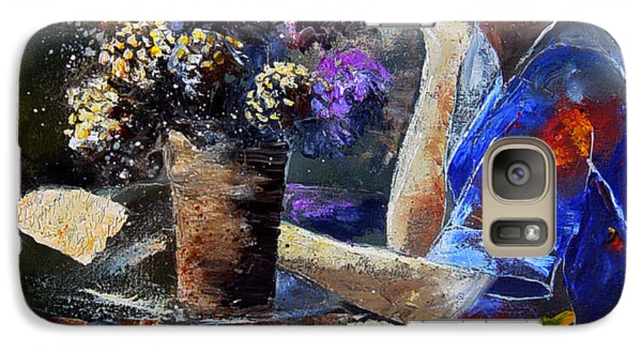 Girl Nude Galaxy S7 Case featuring the painting The Letter by Pol Ledent