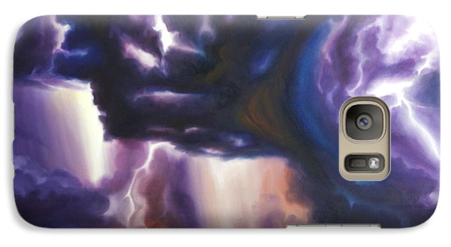 Tempest Galaxy S7 Case featuring the painting The Lightning by James Christopher Hill