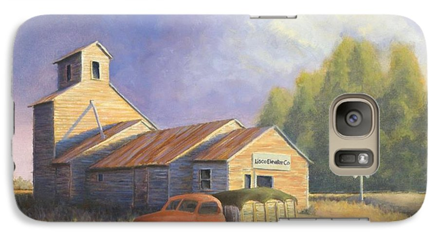 Nebraska Galaxy S7 Case featuring the painting The Lisco Elevator by Jerry McElroy