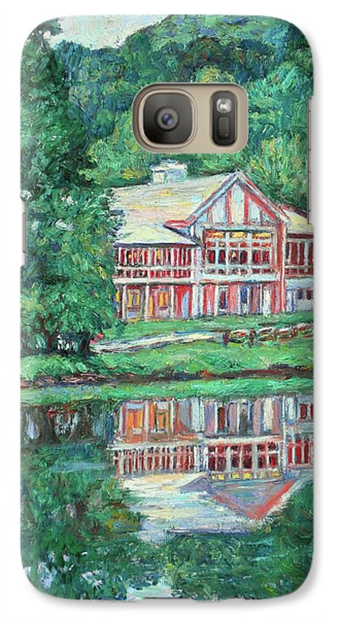 Lodge Paintings Galaxy S7 Case featuring the painting The Lodge At Peaks Of Otter by Kendall Kessler