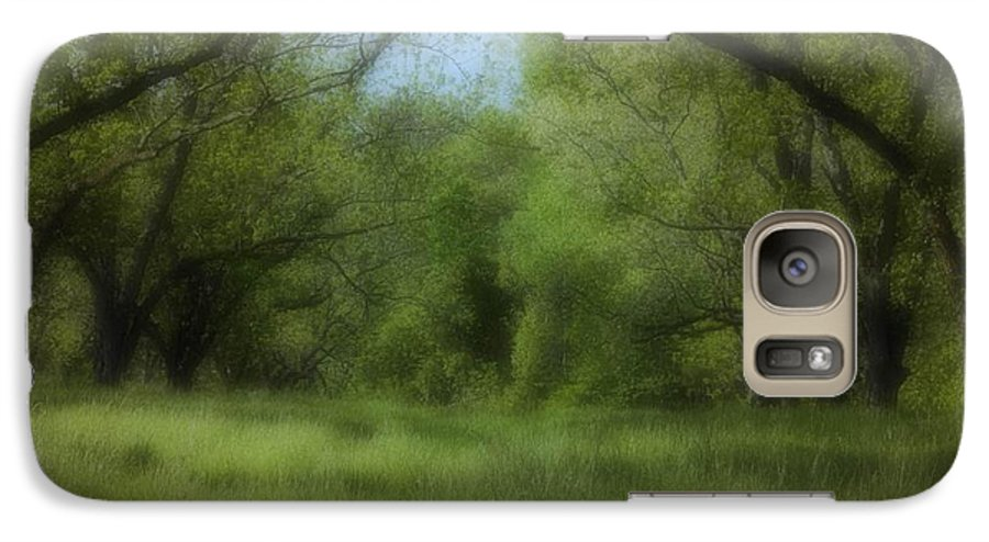 Landscape Galaxy S7 Case featuring the photograph The Meadow by Ayesha Lakes