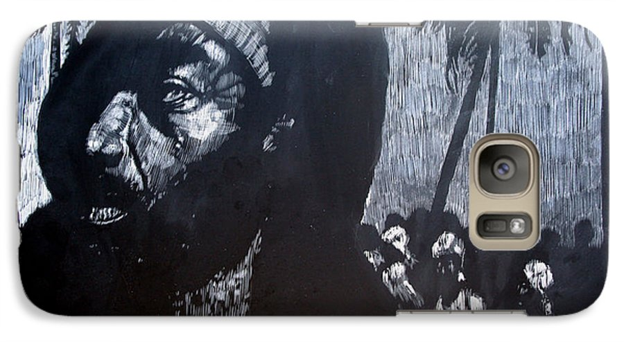 Meet Galaxy S7 Case featuring the mixed media The Meeting by Chester Elmore