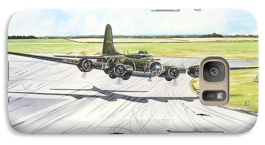 Military Galaxy S7 Case featuring the painting The Memphis Belle by Marc Stewart
