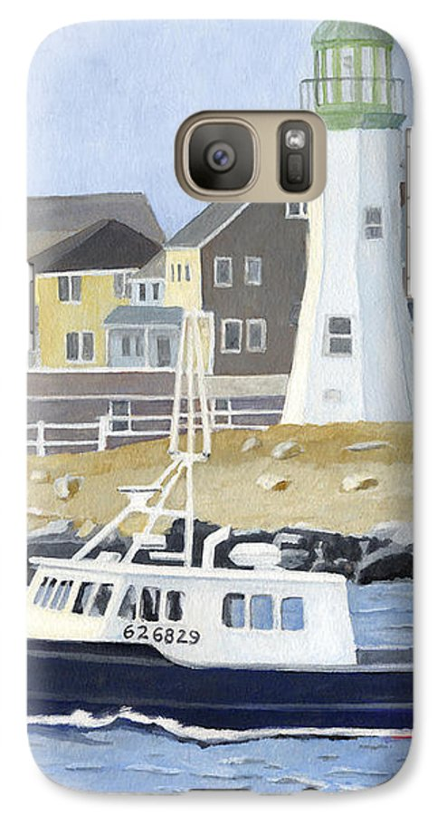 Fishingboat Galaxy S7 Case featuring the painting The Michael Brandon by Dominic White