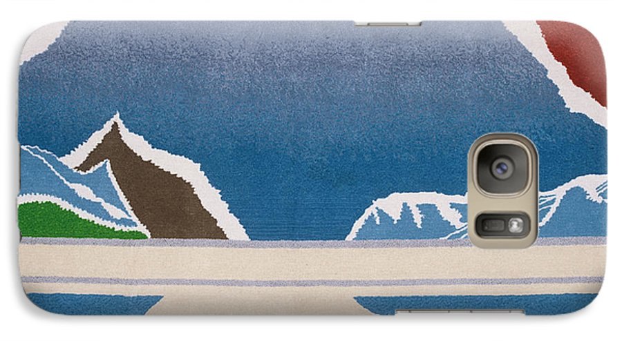 Landscape Galaxy S7 Case featuring the tapestry - textile The Midnight Sun by Jarle Rosseland