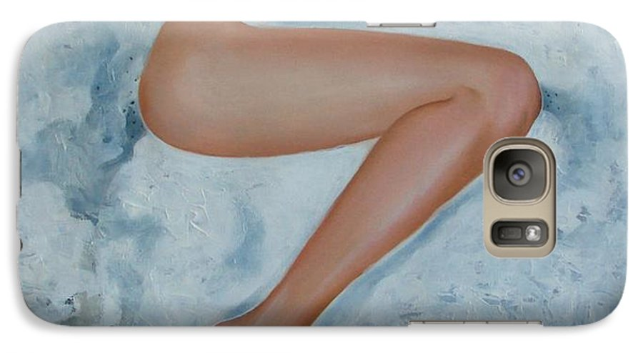 Art Galaxy S7 Case featuring the painting The Milk Bath by Sergey Ignatenko