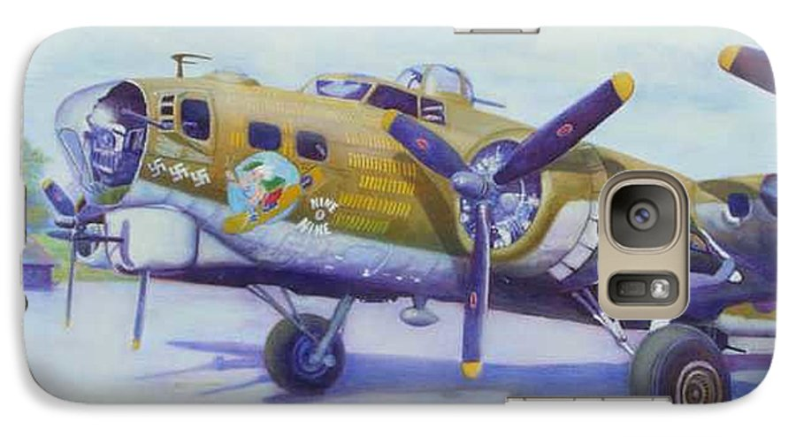 B-17 Galaxy S7 Case featuring the painting The Nine O Nine by Scott Robertson