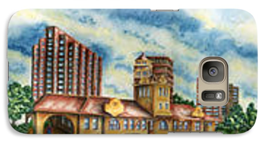 Cityscape Galaxy S7 Case featuring the painting The Old Train Station  by Ragon Steele
