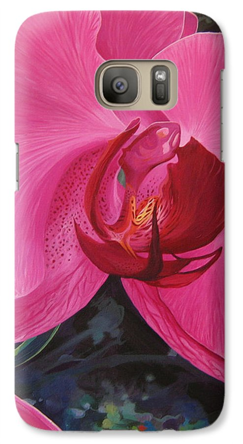 Orchid Galaxy S7 Case featuring the painting The Orchid In San Juan by Hunter Jay