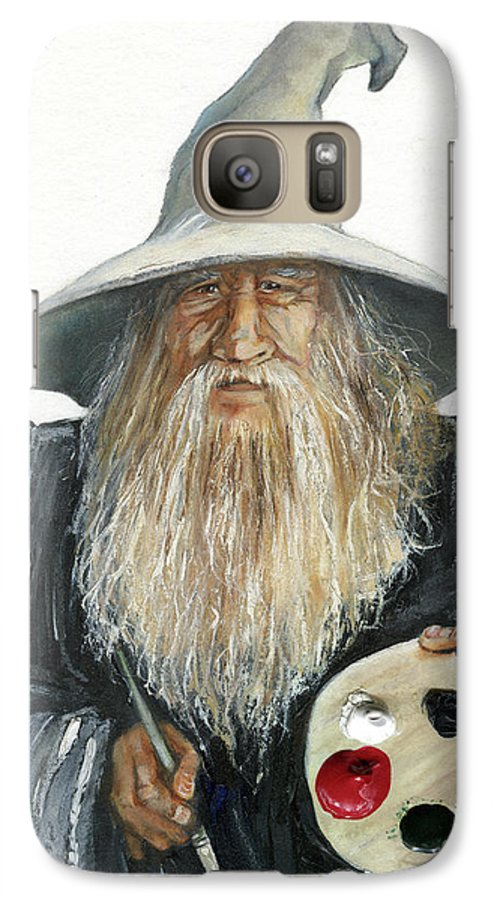 Wizard Galaxy S7 Case featuring the painting The Painting Wizard by J W Baker