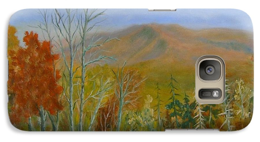 Mountains; Trees; Fall Colors Galaxy S7 Case featuring the painting The Parkway View by Ben Kiger