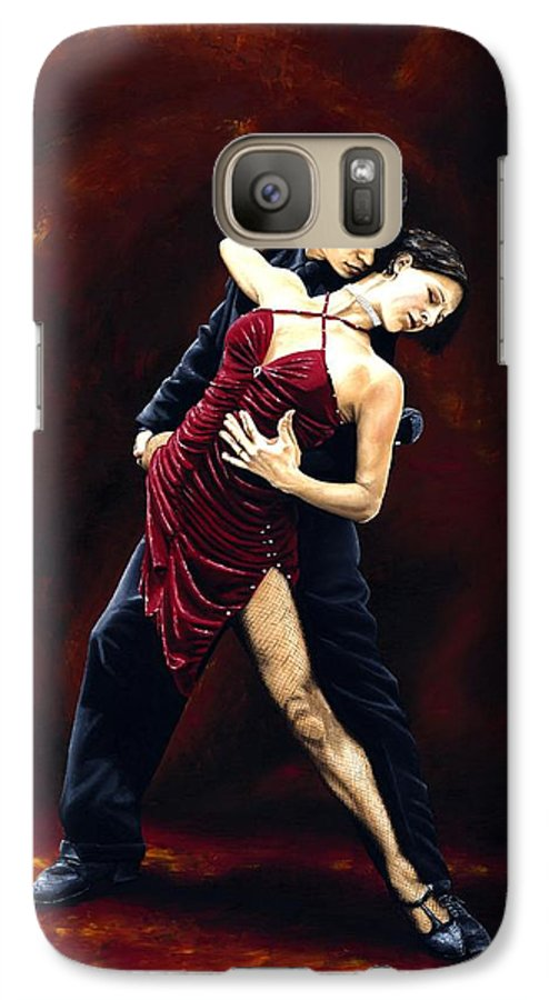 Tango Galaxy S7 Case featuring the painting The Passion Of Tango by Richard Young