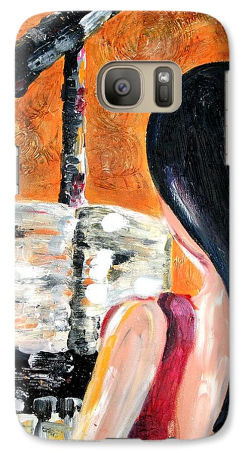 Piano Galaxy S7 Case featuring the painting The Pianist by Maryn Crawford