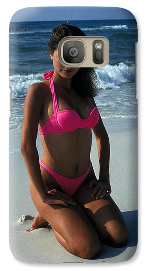 Attractive Galaxy S7 Case featuring the photograph The Pink Bikini by Carl Purcell