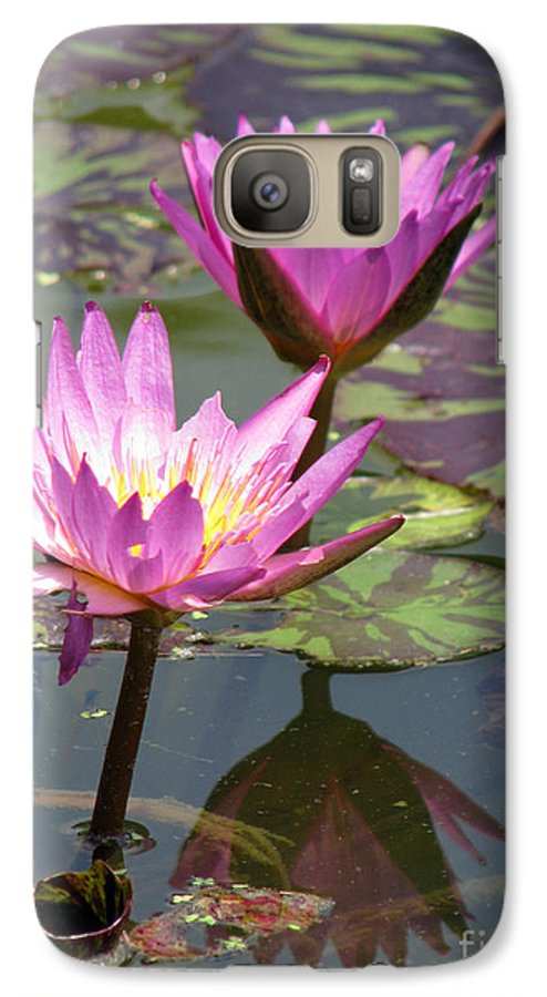 Lillypad Galaxy S7 Case featuring the photograph The Pond by Amanda Barcon