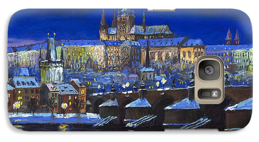 Prague Galaxy S7 Case featuring the painting The Prague Panorama by Yuriy Shevchuk