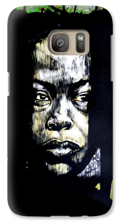 Portraits Galaxy S7 Case featuring the mixed media The Promise Of Spring by Chester Elmore