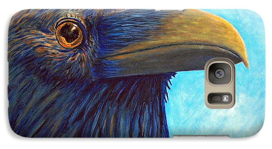 Raven Galaxy S7 Case featuring the painting The Prophet by Brian Commerford
