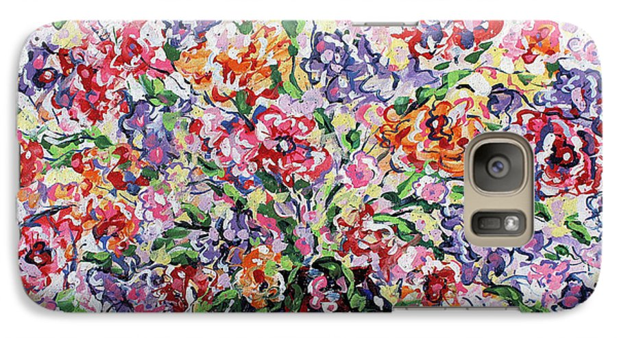 Flowers Galaxy S7 Case featuring the painting The Rainbow Flowers by Leonard Holland