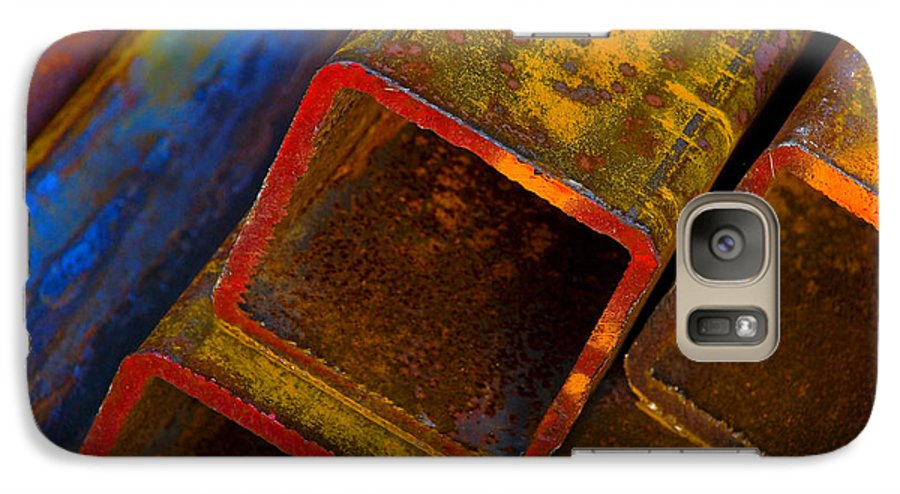 Abstract Galaxy S7 Case featuring the photograph The River by Skip Hunt