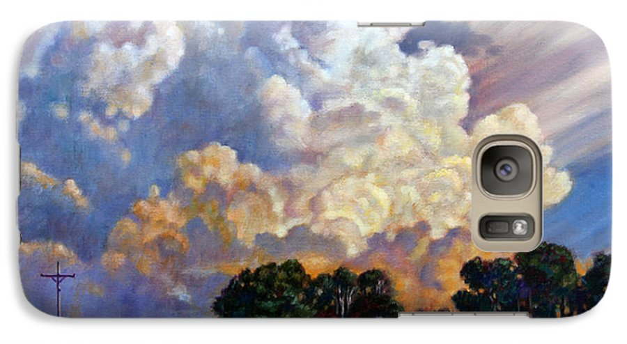 Landscape Galaxy S7 Case featuring the painting The Road Home by John Lautermilch
