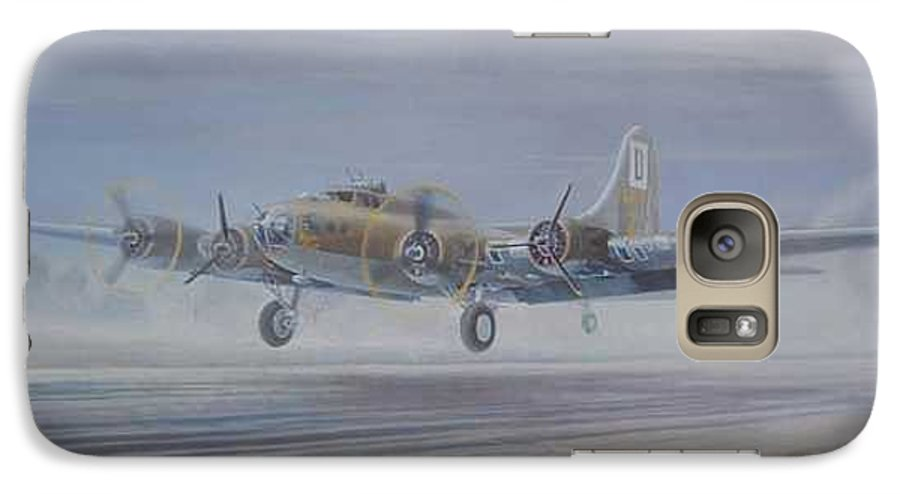 The Only Survivor Of The 100th Bomb Group On The October 10 Galaxy S7 Case featuring the painting The Royal Flush Comes Home by Scott Robertson