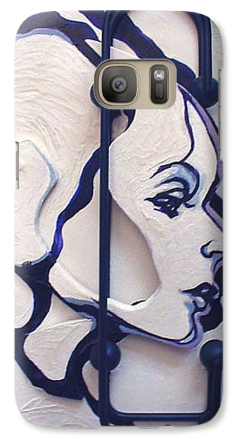 Construction Art Galaxy S7 Case featuring the mixed media The School Teacher by Lloyd DeBerry