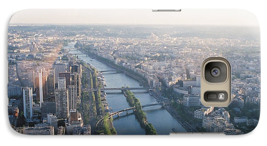 City Galaxy S7 Case featuring the photograph The Seine River In Paris by Nadine Rippelmeyer