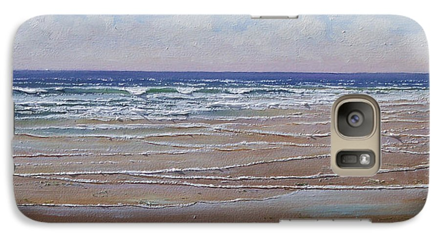 Seascape Galaxy S7 Case featuring the painting The Shell Collector by Frank Wilson