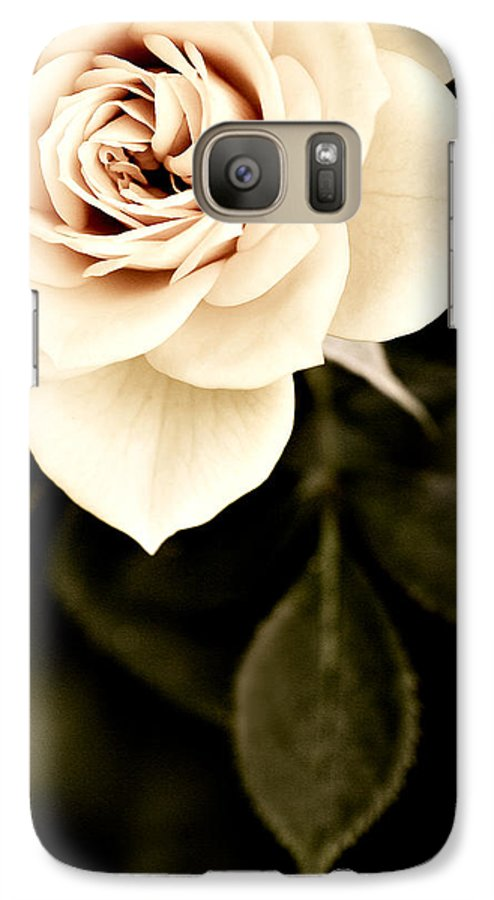 Rose Galaxy S7 Case featuring the photograph The Softest Rose by Marilyn Hunt