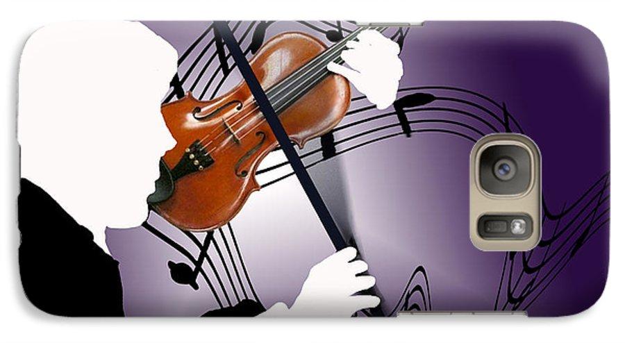 Violin Galaxy S7 Case featuring the digital art The Soloist by Steve Karol