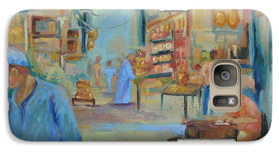 Figurative Galaxy S7 Case featuring the painting The Souk by Ginger Concepcion