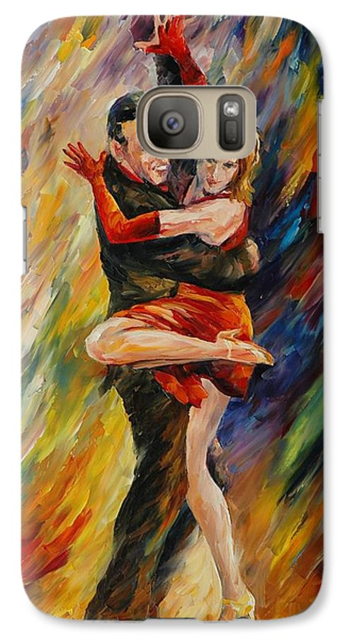 Dance Galaxy S7 Case featuring the painting The Sublime Tango by Leonid Afremov
